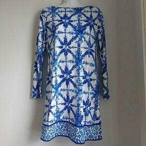 Michael Kors blue patterned tunic